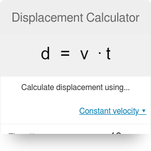 Displacement Calculator | Initial & Final Velocity & More