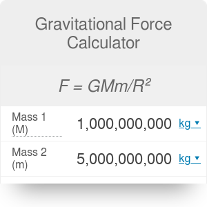 Gravitational Force Calculator