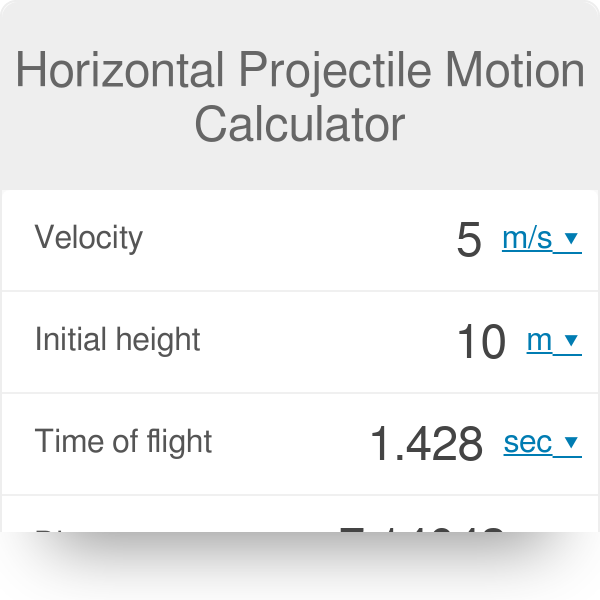 Horizontal Projectile Motion Calculator - Omni