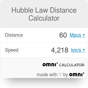 Hubble Law Distance Calculator | What is Hubble's Law?