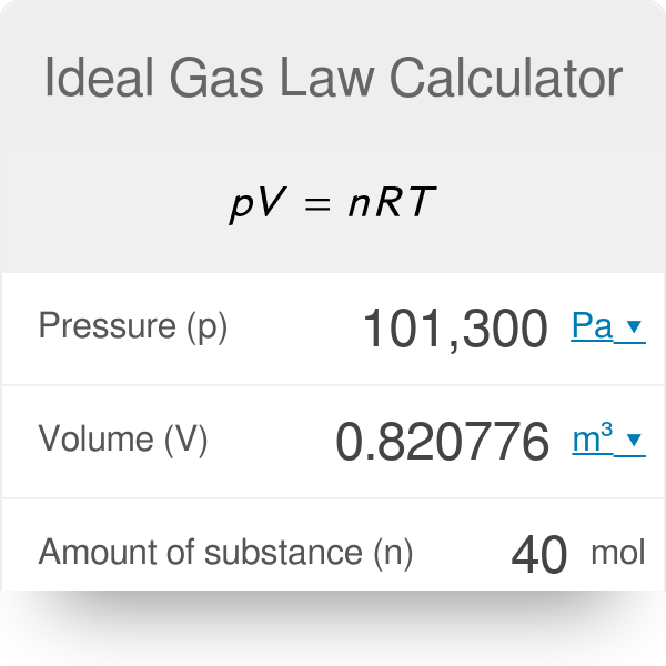 Ideal Gas Law Calculator - Omni