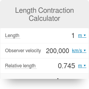 Length Contraction Calculator