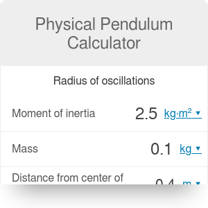 Physical Pendulum Calculator