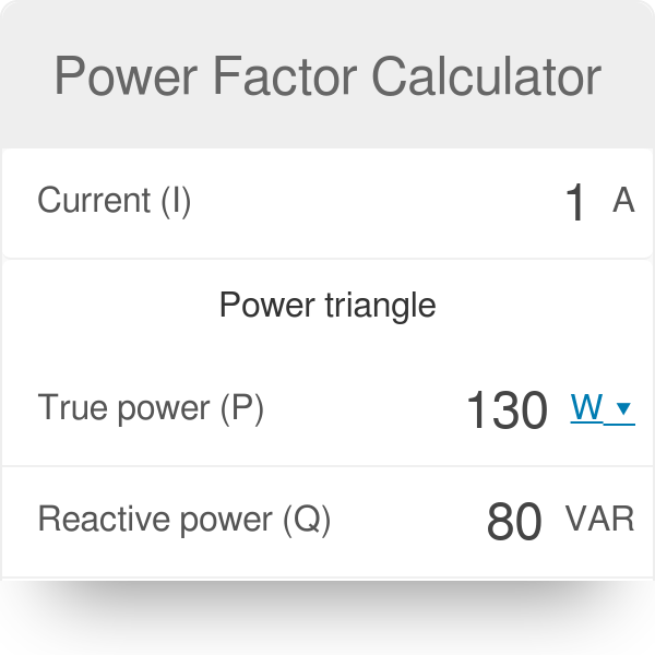 Power Factor Calculator - Omni