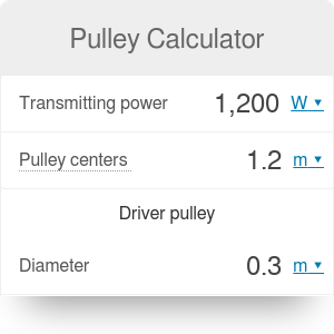 Pulley Calculator - Omni