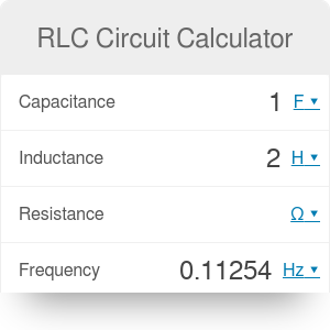 RLC Circuit Calculator