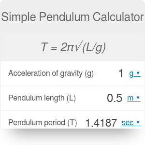 Simple Pendulum Calculator