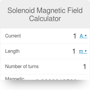 Solenoid Magnetic Field Calculator