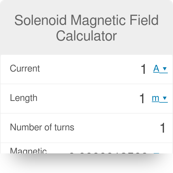 Solenoid Magnetic Field Calculator - Omni