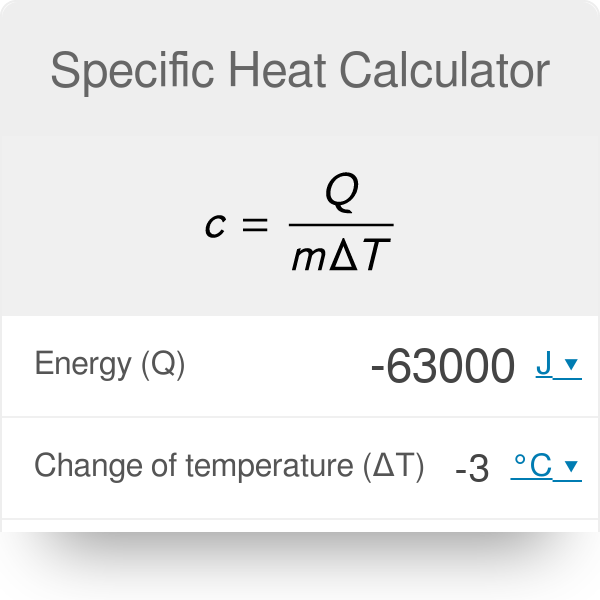 Specific Heat Calculator - Omni