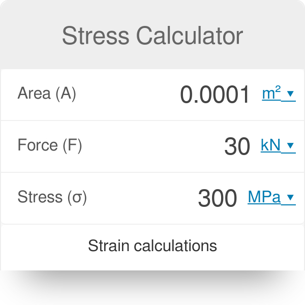 Stress Calculator