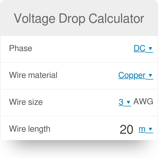 Voltage drop calculator omni greentooth