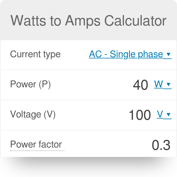 Kw to amps conversion calculator • electrical calculators org.
