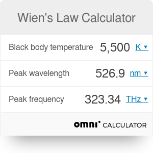Wien's Law Calculator