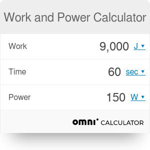 Work and Power Calculator