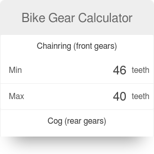 Bike Gear Calculator