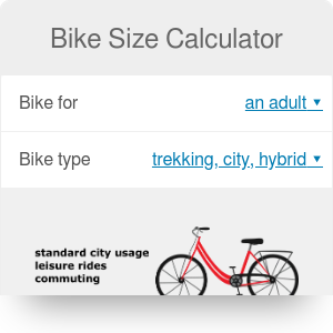 Bike Size Calculator: Find Frame Size for Road, Mountain or City Bikes