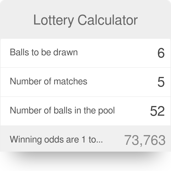 Health Lottery Odds >> Lottery Calculator Omni