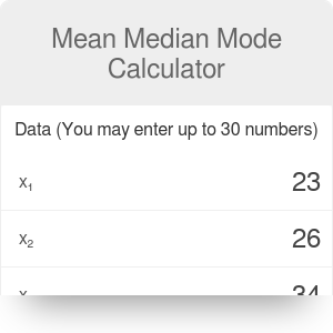 Mean Median Mode Calculator - With Steps