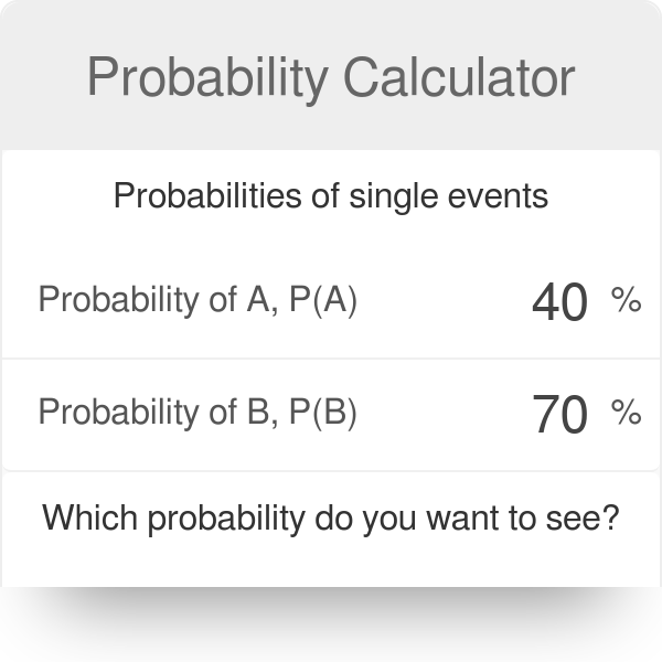 Probability Calculator - Omni