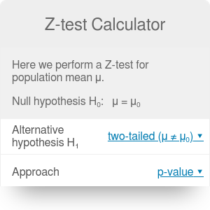 Z-test Calculator | Definition | Examples